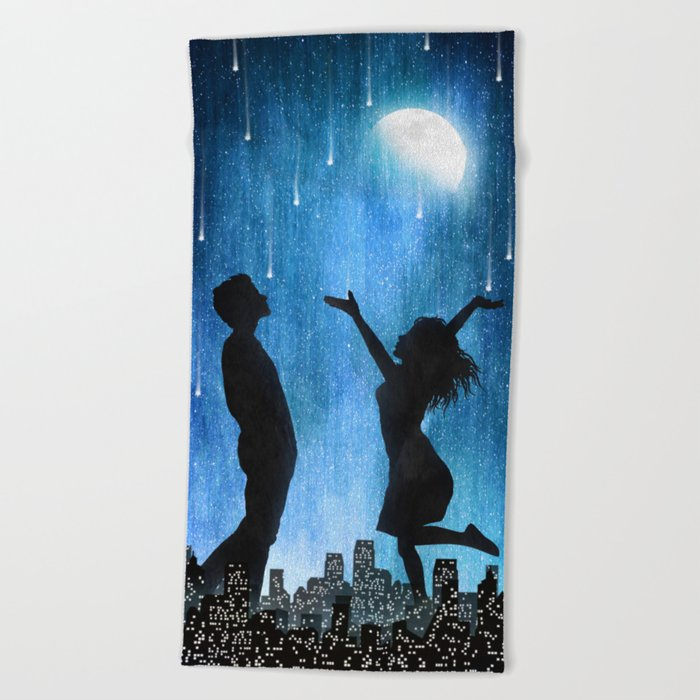 The night is ours Beach Towel