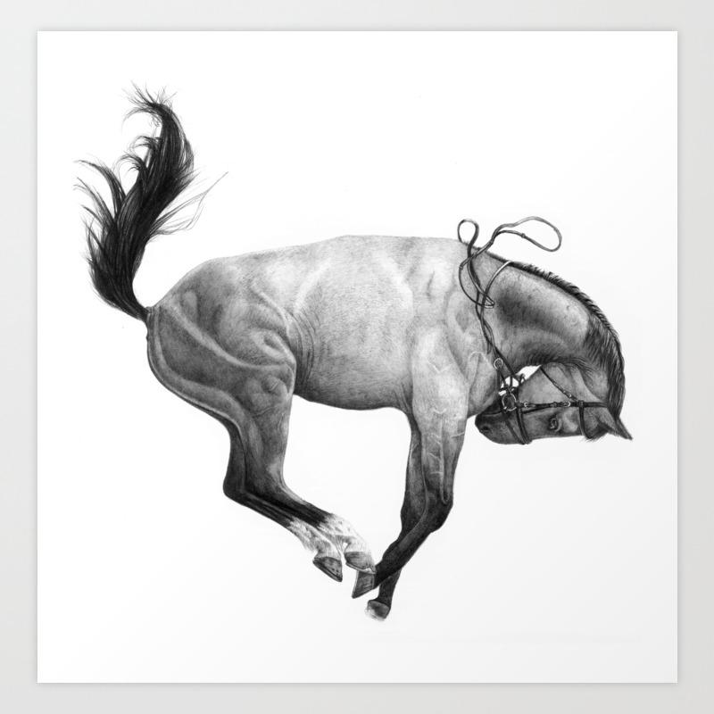 The Wild Horse Art Print By Victoriascotti Society6