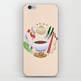 Dumpling Diagram iPhone Skin