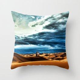 Tardis Stay Alone Throw Pillow