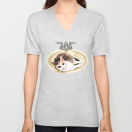 Catrina in the Sink Unisex V-Neck