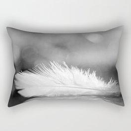 White Feather In Black And White Bokeh Background #decor #society6 #buyart Rectangular Pillow