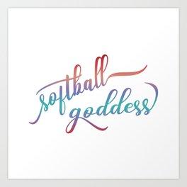 Softball Goddess Summer Ombre Art Print