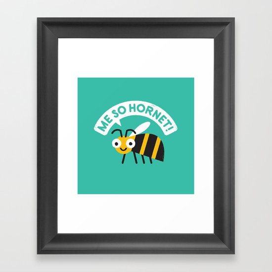 Full Metal Yellow Jacket Framed Art Print