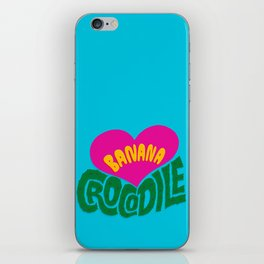 Banana Love and the Crocodile  iPhone Skin