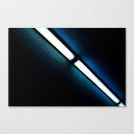 Aqua Wöösh Canvas Print