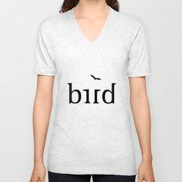 BIRD ambigram Unisex V-Neck