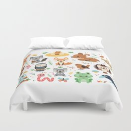 Woodland Animal Duvet Cover