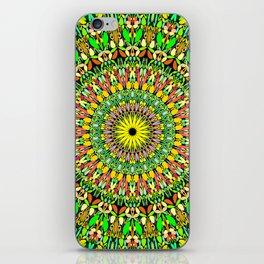 Floral Sun Garden Mandala iPhone Skin