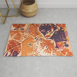 Jubilation- Colorful Abstract Collage Rug