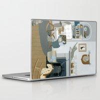 nursery Laptop & iPad Skins featuring Baby Animal Nursery by Yuliya
