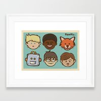 equality Framed Art Prints featuring Equality by Dude Poncio