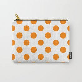 Polka Dots (Orange/White) Carry-All Pouch