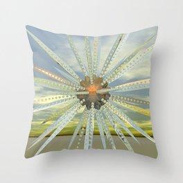 Mechano daisy Throw Pillow