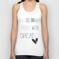 calendars Tank Tops featuring Do small things, typography, quote, inspiration by Shabby Studios Design & Illustrations ..