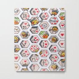 Bee Mine! Metal Print