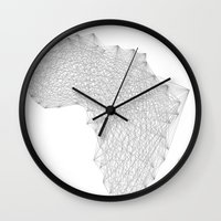 vector Wall Clocks featuring Vector Africa by Resistenza