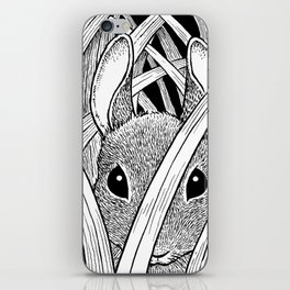 Bunny in the Grass iPhone Skin