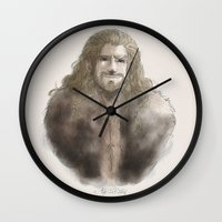 fili Wall Clocks featuring Fili  by ScottyTheCat