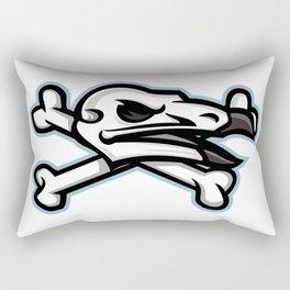 Vulture Skull Mascot Rectangular Pillow