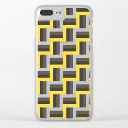 Plus Five Volts - Geometric Repeat Pattern Clear iPhone Case