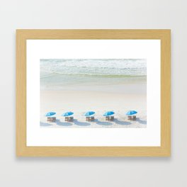 Mornings at the Beach Framed Art Print