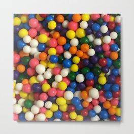 Multicolored Candy Sprinkles Metal Print