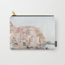 Positano, Italy Amalfi coast pink-peach-white travel photography in hd Carry-All Pouch