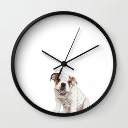 The English Bulldog Wall Clock