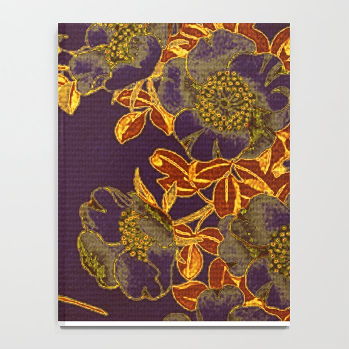 rich floral on purple Notebook