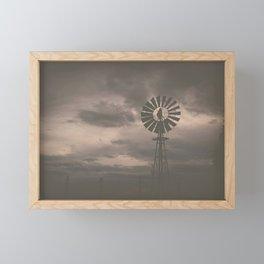 Farmhouse Windmill Framed Mini Art Print