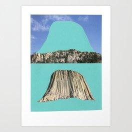 Cave, reverse cave. Art Print