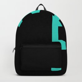 LETTER B (TURQUOISE-BLACK) Backpack