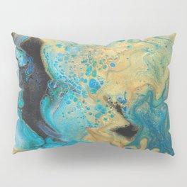 Fluid nature - Golden Sands -  Acrylic Pour Art Pillow Sham