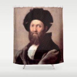 Renaissance Portait of Baldassare Castiglione Shower Curtain