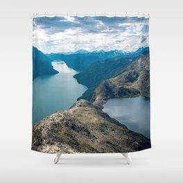 Landscape Photography by Sébastien Goldberg Shower Curtain