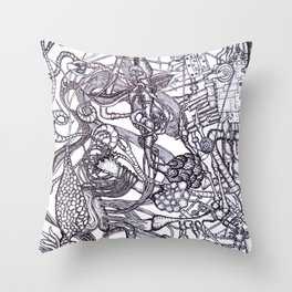 Workings Throw Pillow