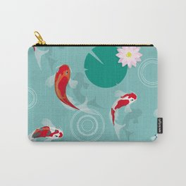 Koi swim in the clear water Carry-All Pouch