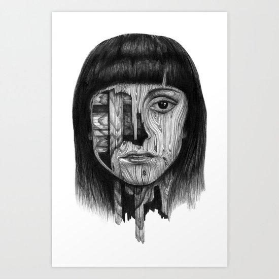 Wood Girl Art Print
