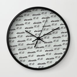 Death Aesthetic Wall Clock