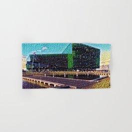 Iceland Harpa Concert Hall Artistic Illustration Gems Style Hand & Bath Towel