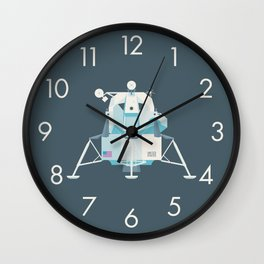 Apollo 11 Lunar Lander Module - Plain Charcoal Wall Clock