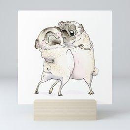 Old Love Pug Art Mini Art Print