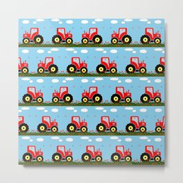 Toy tractor pattern Metal Print