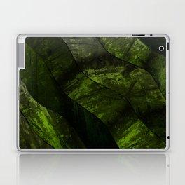 Green lines in dirty gradient pattern Laptop & iPad Skin