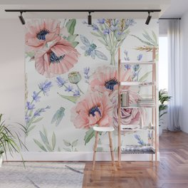 Fall Country Flowers Wall Mural