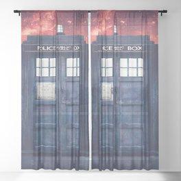 Doctor Who Tardis Galaxy Nebula Sheer Curtain