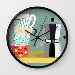 Coffee shelf Wall Clock
