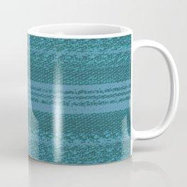 Big Stich Aqua Teal - Knitting Fabric Art Coffee Mug