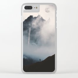 Mist-ery Island Clear iPhone Case
